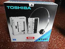 TOSHIBA KT-v s1 Rojo NEW IN BOX  RADIO OK Cassete No work