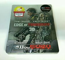 EDGE OF TOMORROW [2D+ 3D] Blu-ray STEELBOOK [1/4 SLIP] NOVAMEDIA [KOREA] OOS/OOP