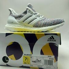online store 09905 fb70c adidas Ultra Boost Mens DB3198 White Multicolor Primeknit Running Shoes Size  11