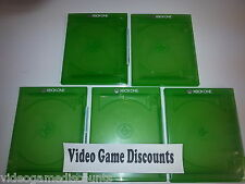 Lot of 5 Xbox One 1 Disc Genuine Microsoft OEM Replacement Game Case CD DVD Box