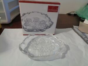 Celebrations by MIKASA Frosted Snack Dish Christmas Carolers Collection