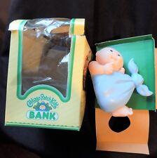 Vintage Cabbage Patch Kids Bank 1984 Bald Baby Blue Stork Piggy Bank
