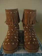 UGG JIMMY CHOO STARLIT SHORT CHESTNUT SZ 9