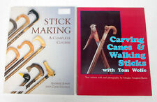 2 books: Stick Making, A Complete Course and Carving Canes and Walking Sticks