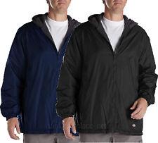 Dickies Jackets Men Fleece lined Hooded Nylon Jacket Water Resistant  Navy Black
