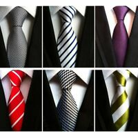 Formal Men Suit Neckties Polyester Neck Wear For Men's Fashion Solid Outwear New