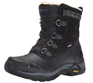 Ahnu Women Twain Harte Black Insulated Waterproof Boot US 6 NEW
