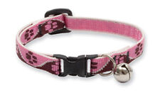 "Lupine Cat Safety Collar Bell Breakaway TICKLED PINK 8""-12"" Pink Brown Paws New"