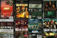PIRATI DEI CARAIBI: Luna + Forziere + Mondo + Oltre - Edizione limitata  = 7 DVD