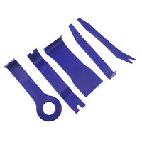 Blue 5 Pcs Vehicles Door Plastic Trims Panel Dash Installation Removal Pry Tools