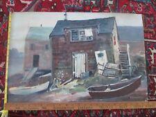Stephen G Maniatty Monhegan Island Maine Impressionist Oil Painting Fishing