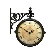 Antique Vintage Double Sided Wall Clock Home Decor Station Clock Gift - M195BRCR
