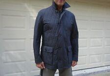 New ERMENEGILDO ZEGNA Men's Gray Quilted Wool Coat/Jacket Size 52R Slim Fit