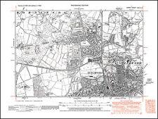 Millbridge old map Surrey 37-NW Spreakley Frensham Batt/'s Corner in 1938