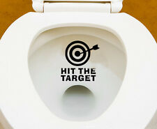 Black Hit The Target Design Waterproof Toilet WC Mural Wall Stickers Interesting