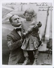8x10 Photo of Houdini & Houdini's Niece. Autographed!