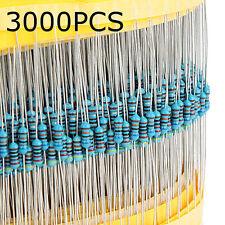 5Pcs 1% 1/4W Metal Film Resistor Assorted 30 Kinds Value 3000pcs 100pcs Each