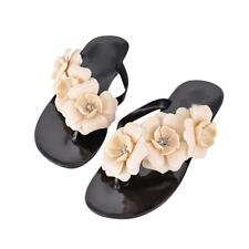 Summer Women's Fashion Bohemia Sandals Shoes Flat Heel Flip Flops Beach Slippers