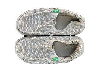 Sanuk Kids Vagabond Boys Loafer Brown Blue 2Y Big Kid Shoes
