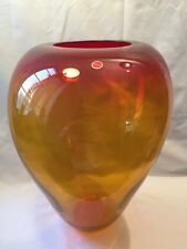 Very Large Vintage Murano Vase Signed And Labelled Circa 1950/60s (ref P722)