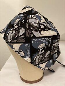 Men/Women Surgical Scrub Cap Lined Star Wars Mandalorian 100% Cotton