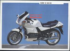 Genuine BMW K100RS (1991) Dealership Sales Brochure K 100 RS K-series 1000