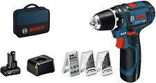 Visseuse Perceuse Sans Fil Pro Bosch GSR 12 V 2 Batteries Pack Accessoires Sac