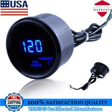 AS Car Motor 2 1/16 Inch 52mm Digital LED Electronic Oil Pressure Gauge Sensor