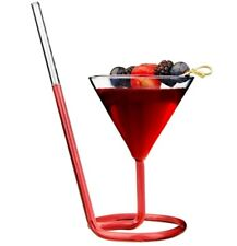 Creative Cocktail Glass Party bar Decor 3.7oz Drinking Spiral with Straw