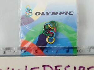 Olympic Air Airline Rings Pin badge Lapel Tie Airways Brand New Sealed Greece