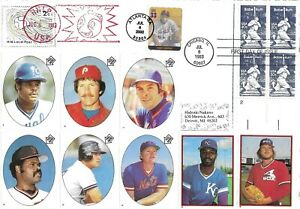 1983 FDC, #2046, 20c Babe Ruth, baseball card envelope - dual cancel (HDLP) #1