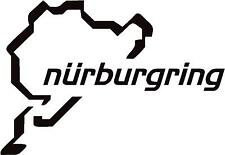 x2 Nurburgring (Design 2) Race Track Outline Vinyl Decals Stickers Graphics