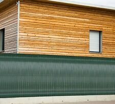 Brise-vue Kit lanière occultante souple verte 60 mètres x 4,6 cm 100 clips NEUF