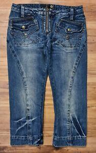 JUST CAVALLI Italian 3/4 denim jeans - Size 38 (10)