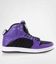 $110 Supra S1W Mid Top Fashion Sneakers Black/Purple/White/Black Size 10