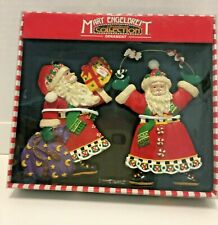 Mary Engelbreit Santa Ornaments Kurt Adler (2) New