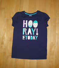 GYMBOREE HOP n ROLL BLUE HOORAY FOR TODAY TOP  GIRLS 6 FALL  SPRING COTTON