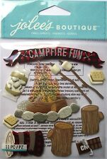 JOLEE'S BOUTIQUE CAMPFIRE Camping Bonfire Scrapbook Craft Stickers Embellishment