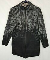 Adidas ZNE Pulse Cover Up Knit Jacket Women's Small S 8 10 Black BR9468
