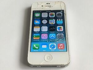 Apple iPhone 4 A1349 8GB White Verizon Wireless Smartphone/Cell Phone *Smashed*