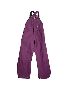 BERNE WB515NDR WOMEN'S Pink COTTON QUILTED LINED INSULATED OVERALLS Medium Short