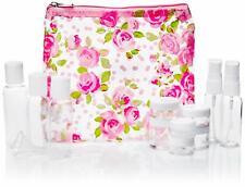 Miamica Women's Pink Rose Travel Bottle Kit 12-Piece