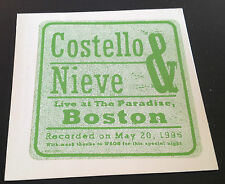 Costello & Nieve Live at The Paradise Boston 1996 CD WB PRO-CD-8416 5trks