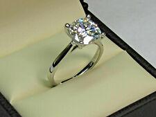 Ring14k White Gold Engagement ring 2.44Ct Round Brilliant Cut Moissanite Diamond