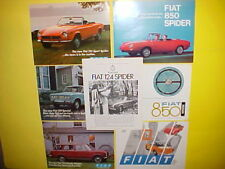 1967 1968 1970 1971 FIAT 124 850 SPIDER BERTONE BROCHURES CATALOGS LOT OF 7