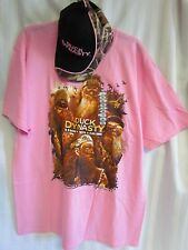 Duck Dynasty PINK XL A Family With A Calling T-shirt Camo Camouflage Hat Lot NEW