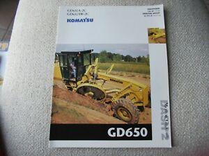Komatsu GD650A-2C GD650AW-2C motor grader brochure