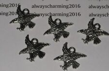 """10  SILVER TBN """"HAWKS OR EAGLE"""" CHARMS FOR BRACELET JEWELRY"""