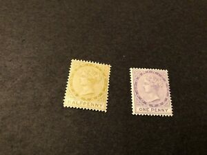 dominica stamps scott 4,5 mhog scv 27.00 k110