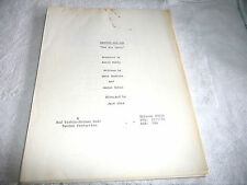 ORIGINAL  SCRIPT SANFORD AND SON THE BIG PARTY RUBEN HAWKINS SHEA 1972